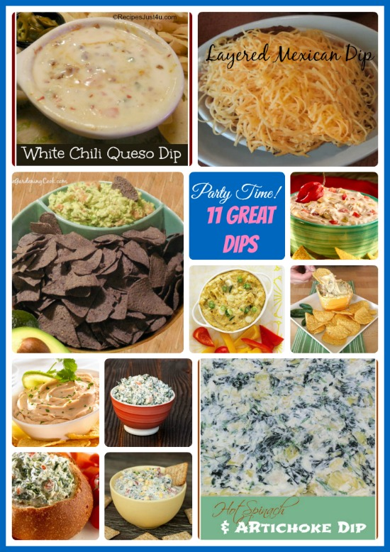 Round up of 11 Fabulous Dip recipes for your next party