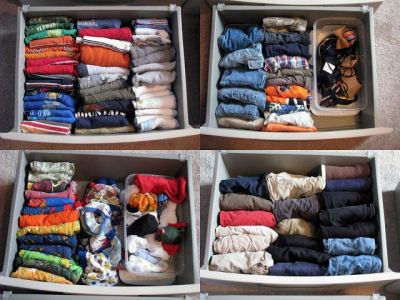 File your clothing instead of stacking it.
