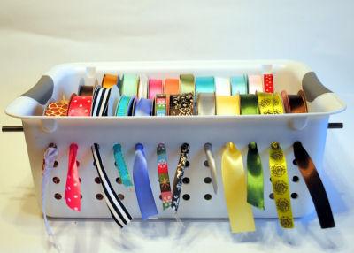 Ribbon organizer DIY