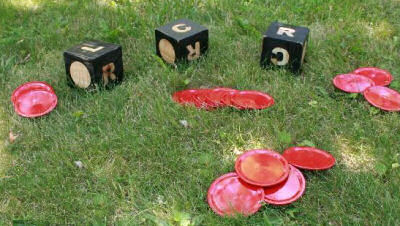 DIY Outdoor Giant Dice Game