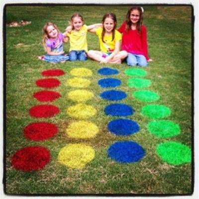 DIY Lawn Twister Game