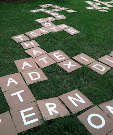 DIY Outdoor Scrabble Game