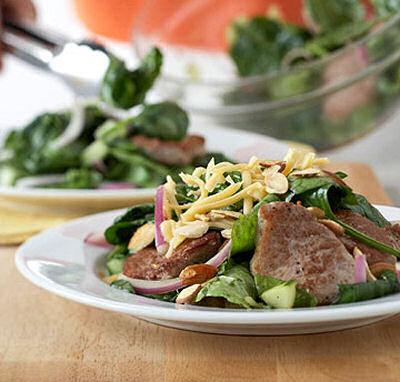 Maple-Pork Wilted Salad