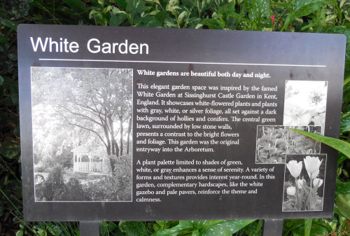 The White Garden in Raleigh.