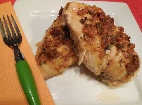 Super easy garlic and wine chicken