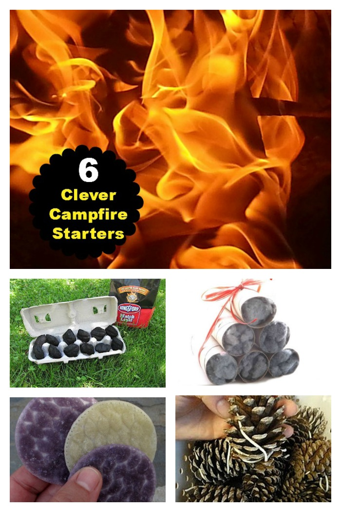 These easy campfire starters will get the fire roaring in a flash.