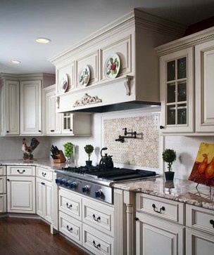 Lots of molding and detail in this great kitchen