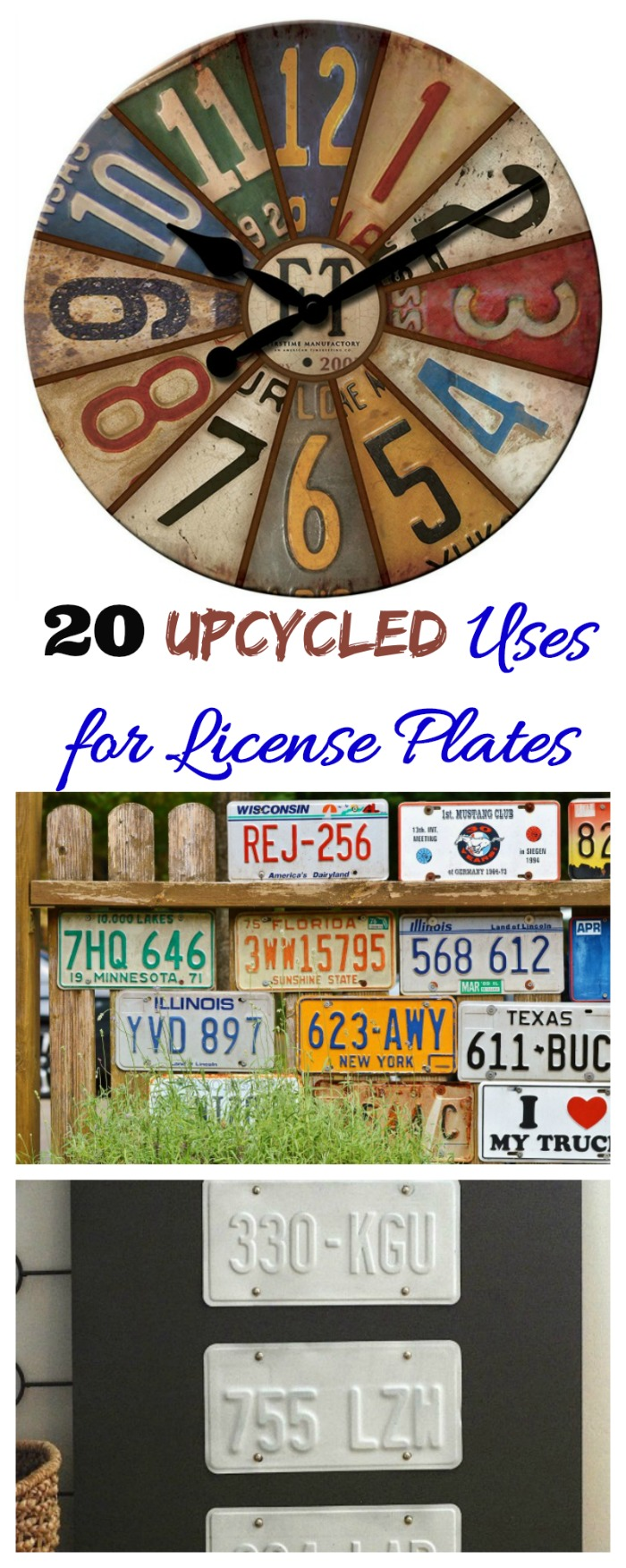 These 20 upcycled Uses for License Plates show that number plates are not just for cars. #licenseplates #numberplates