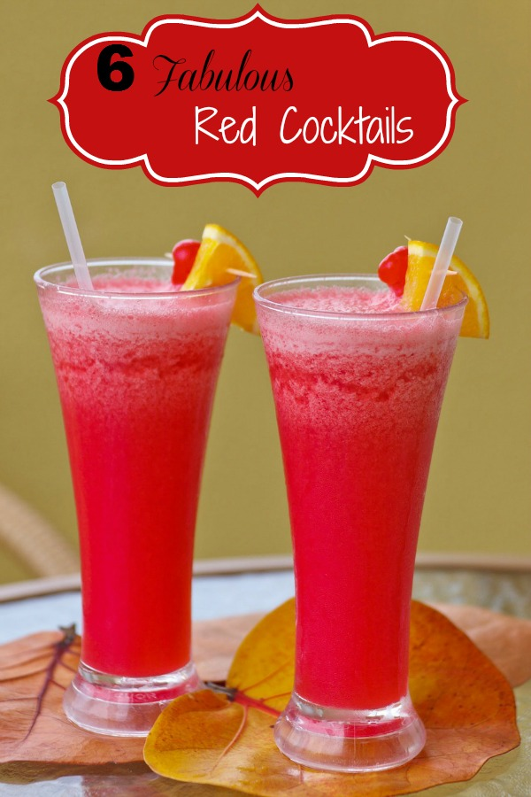 6 Fabulous Red Cocktails