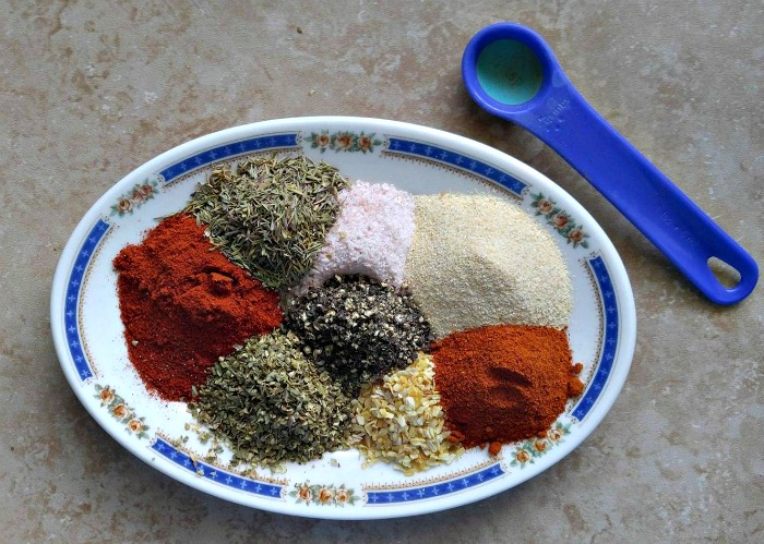 Spices and herbs for a home made spice rub
