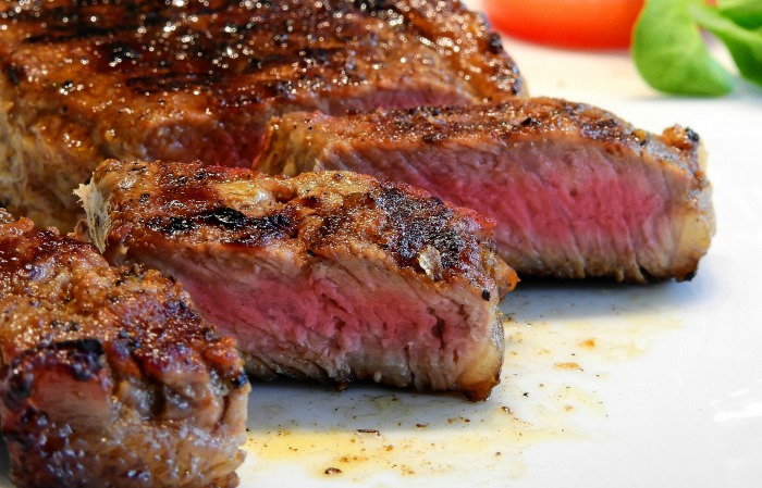 grilled steak with a spicy rub