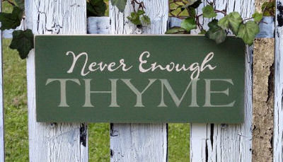 Never Enough Thyme Garden Sign