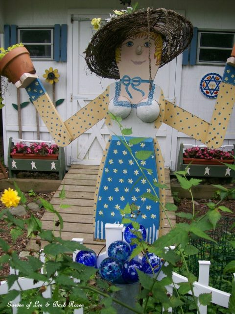 Whimsical Garden Greeter.