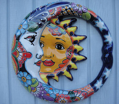 Mexican hand painted garden face