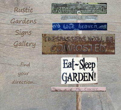 Collection of Garden signs.