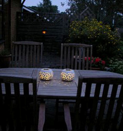 Solar lamps make great and soft outdoor lighting