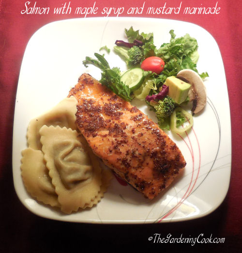 Salmon with Maple Syrup and Mustard Marinade