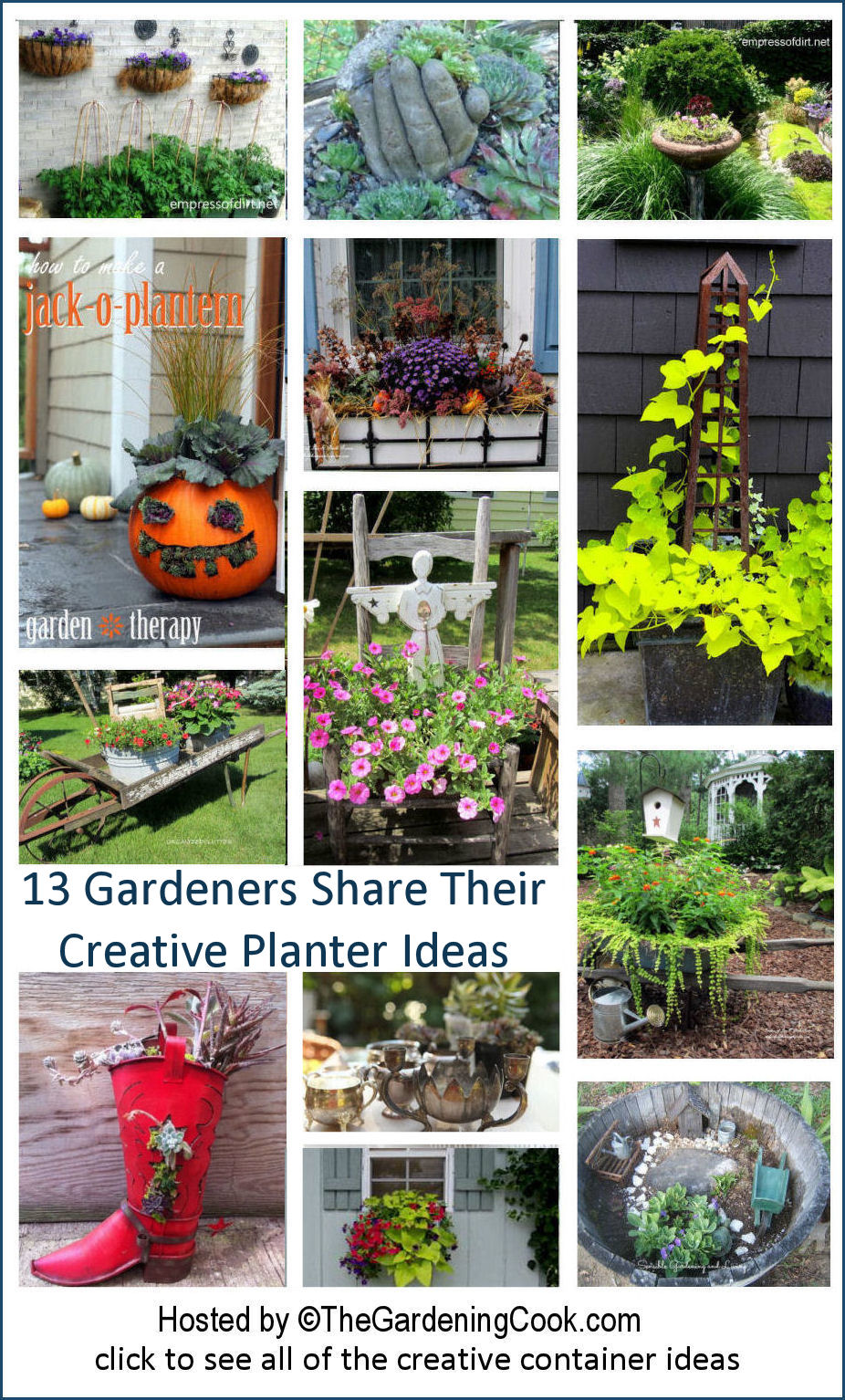 Ideas For Planting Succulents: 13 Garden Bloggers Share Creative Container And Planter Ideas
