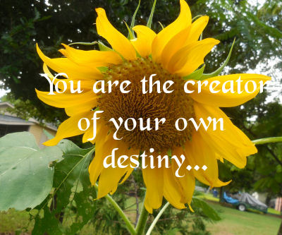 You are the creator of your own destiny.