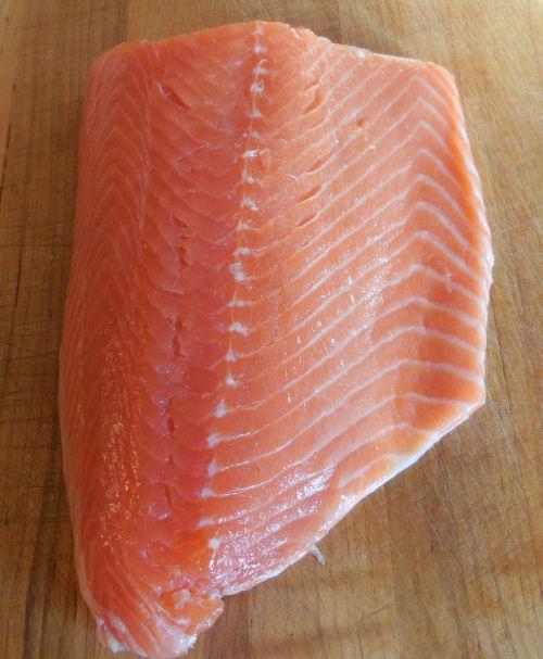 whole piece of salmon