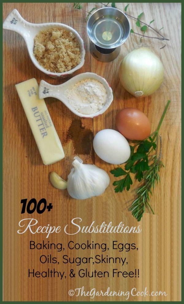 100 recipe substitutions