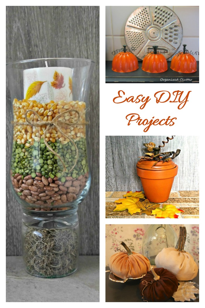 Easy Craft project for fall and all year round. These fun ideas can be made in minutes with very few materials.