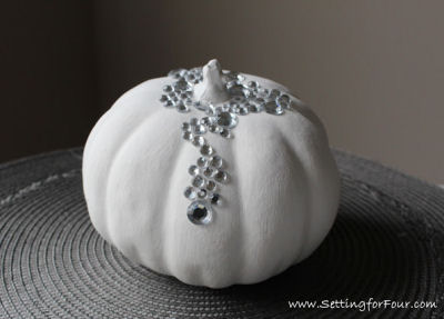 DIY Bling Artificial pumpkin.