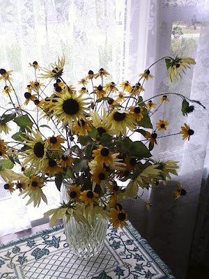 Sunflowers say good bye to Jess