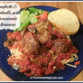 Spaghetti and Meatballs with Homemade marinara sauce
