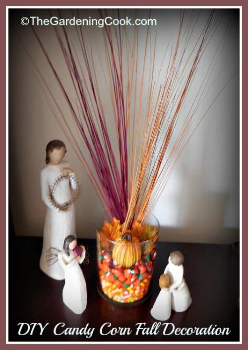 DIY Candy Corn Fall Decoration