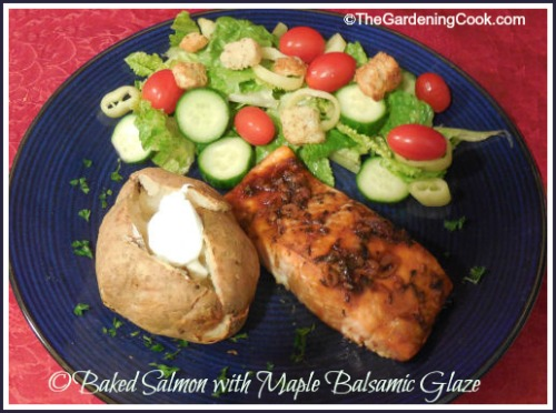 Baked Salmon with Maple Balsamic Glaze