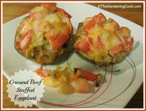 Ground Beef Stuffed Eggplants