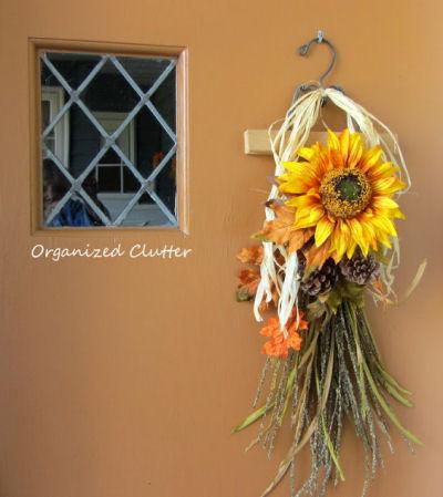 DIY Autumn Swag Wreath
