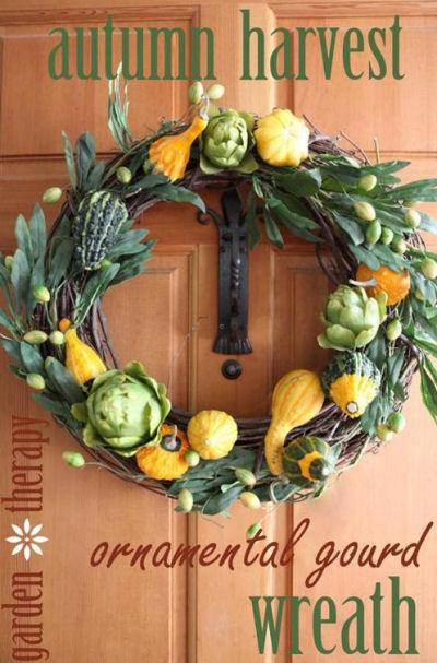 DIY Gourd Autumn Wreath