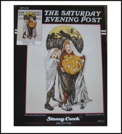 Halloween Saturday Evening Post cross stitch