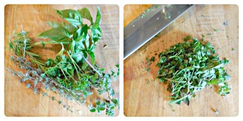 chopped herbs