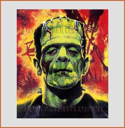 Frankenstein crossstitch