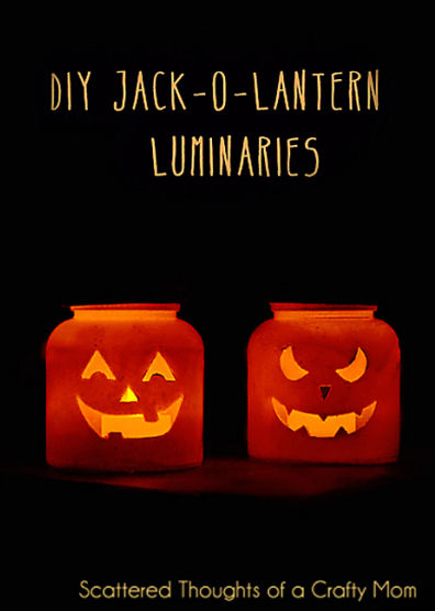 Easy DIY Jack o Lantern luminaries