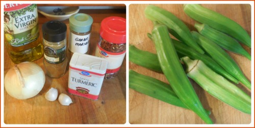 Okra ingredients