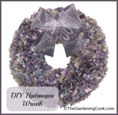 DIY Hydrangea Autumn Wreath