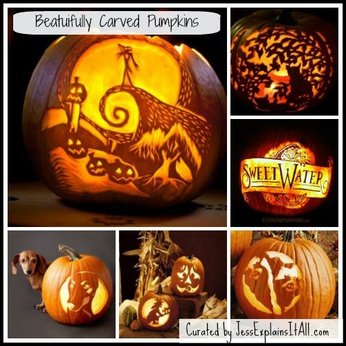 Carved Pumpkin Collage