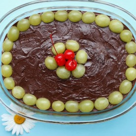 Coconut Chocolate recipe with grapes