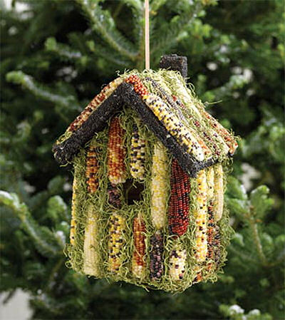 Indian Corn Bird House