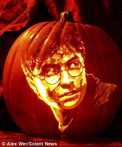 Harry Potter Carved Pumpkin