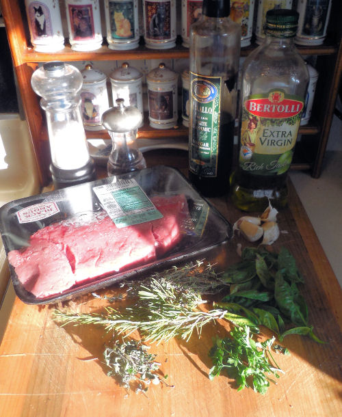 ingredients for Italian London Broil Steak