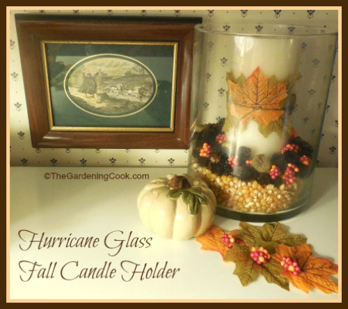 Hurricane Glass Gall Candle Holder Vignette