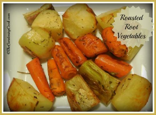 Roasted Potatoes, Carrots and Leeks