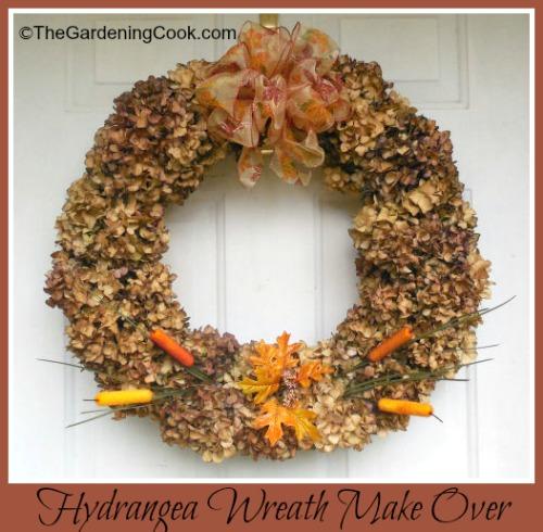Dried Hydrangea Wreath Make Over
