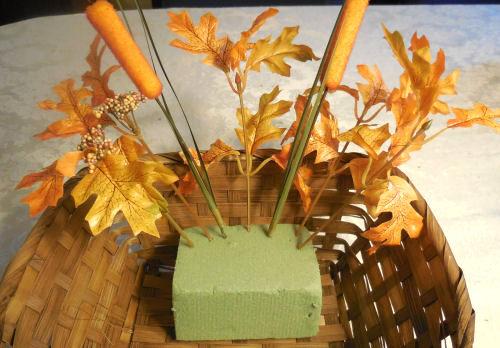 Leaves in foam