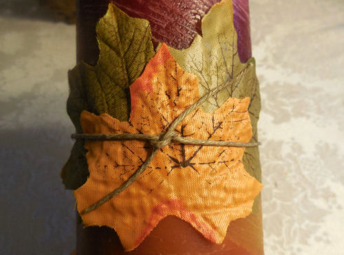 Leaves to candle